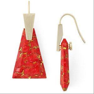 Kendra Scott Collins Small Drop Earrings.